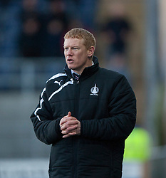 Falkirk's manager Gary Holt.<br /> Falkirk 0 v 0 Hamilton, Scottish Championship game at The Falkirk Stadium. &copy; Michael Schofield 2014.