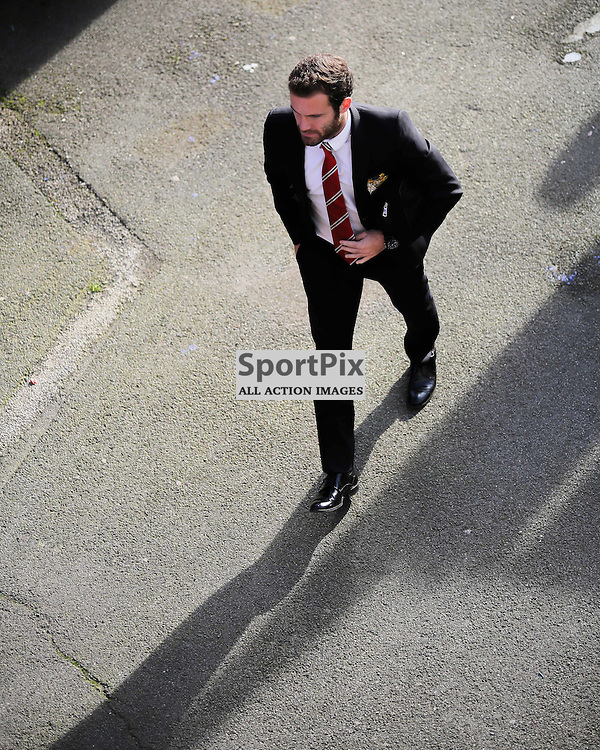 Juan Mata arrives at Crystal Palace vs Manchester United on Saturday the 31st October 2015.
