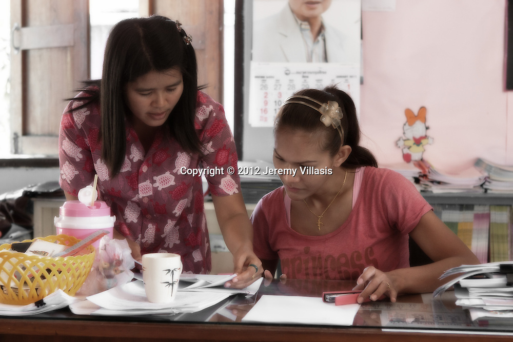 A typical day at work for Nong Toom at Baan Poo Yai School.