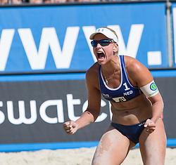 01-08-2014 AUT: FIVB Grandslam Volleybal, Klagenfurt<br /> Marleen Van Iersel of the Netherlands <br /> ***NETHERLANDS ONLY***