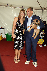 LIZ HURLEY and BRUCE OLDFIELD at Macmillan Dog Day in aid of Macmillan Cancer Support, held at Royal Hospital Chelsea, London on 3rd July 2007.<br /><br />NON EXCLUSIVE - WORLD RIGHTS