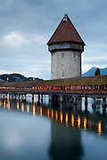 Water Tower of the Chapel Bridge, Lucerne, Switzerland