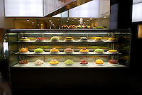 Cakes displayed outside a patisserie, Tokyo, Japan.