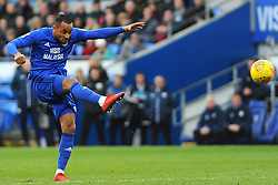 Loic Damour of Cardiff City shoots at goal - Mandatory by-line: Nizaam Jones/JMP - 17/02/2018 -  FOOTBALL - Cardiff City Stadium - Cardiff, Wales -  Cardiff City v Middlesbrough - Sky Bet Championship