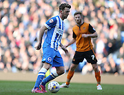 Dale Stephens, Brighton midfielder during the Sky Bet Championship match between Brighton and Hove Albion and Wolverhampton Wanderers at the American Express Community Stadium, Brighton and Hove, England on 14 March 2015.