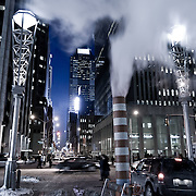 Street of New York by night