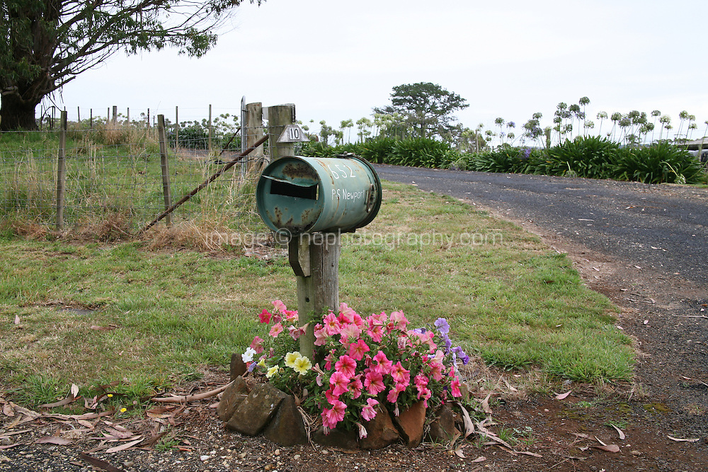 Tin can mailbox in Tasmania Australia