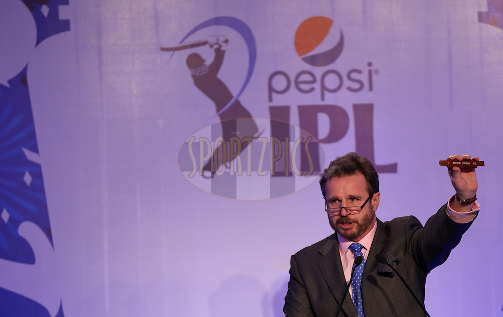 during the Pepsi IPL Player Auction held at the ITC Gardenia in Bengaluru, India on the 12th February 2014<br /> <br /> Photo by Sandeep Shetty/BCCI/SPORTZPICS