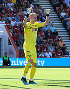 Aaron Ramsdale (12) of AFC Bournemouth during the Premier League match between Bournemouth and Everton at the Vitality Stadium, Bournemouth, England on 15 September 2019.