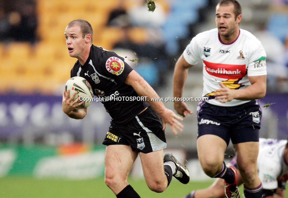 Warriors halfback Grant Rovelli during the NRL rugby league match between the Warriors and the Melbourne Storm at Mt. Smart Stadium, Auckland, New Zealand on Sunday 10 June 2007. The Melbourne Storm won the match 4 - 2. Photo: Renee McKay/PHOTOSPORT **NO COMMERCIAL USE **