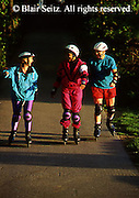 Outdoor recreation, Mixed Young Adult Triad Roller Blades, York Co.. Park, PA