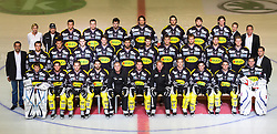 29.08.2012, Messestadion, Dornbirn, AUT, EBEL, Spielerportraits, Dornbirner Eishockey Club, im Bild Mannschaftsfoto des Dornbirner Eishockey Club// during Dornbirner Eishockey Club Player Portrait Session at the Messestadion, Dornbirn, Austria on 2012/08/29, EXPA Pictures © 2012, PhotoCredit: EXPA/ Peter Rinderer