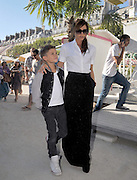 23.JULY.2012. PARIS<br /> <br /> VICTORIA BECKHAM AND HER SON ROMEO SPEND THE DAY IN PARIS. AFTER A PHOTOSHOOT WITH KARL LAGERFELD AT THE CHANEL STORE, THEY RIDE 'THE BIG WHEEL' AT THE 'TUILERIES GARDEN' THEN TOOK THE 'EUROSTAR' BACK TO LONDON.<br /> <br /> BYLINE: EDBIMAGEARCHIVE.CO.UK<br /> <br /> *THIS IMAGE IS STRICTLY FOR UK NEWSPAPERS AND MAGAZINES ONLY*<br /> *FOR WORLD WIDE SALES AND WEB USE PLEASE CONTACT EDBIMAGEARCHIVE - 0208 954 5968*