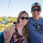 July 13-16, 2016, San Diego, CA:<br /> Kelsey Doherty and Luke Fraser on the Sky Tram at the San Diego Zoo during a trip to San Diego, California Wednesday, July 13 to Saturday, July 16, 2016. <br /> (Photos by Billie Weiss)