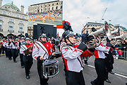 The Sussex hamiltion High School Charger Band - The New Years Day parade passes through central London.