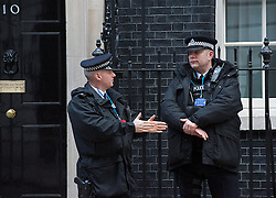 Police outside 10 Downing Street, London Great Britain, 5th February 2013. Photo by Elliott Franks / i-Images.