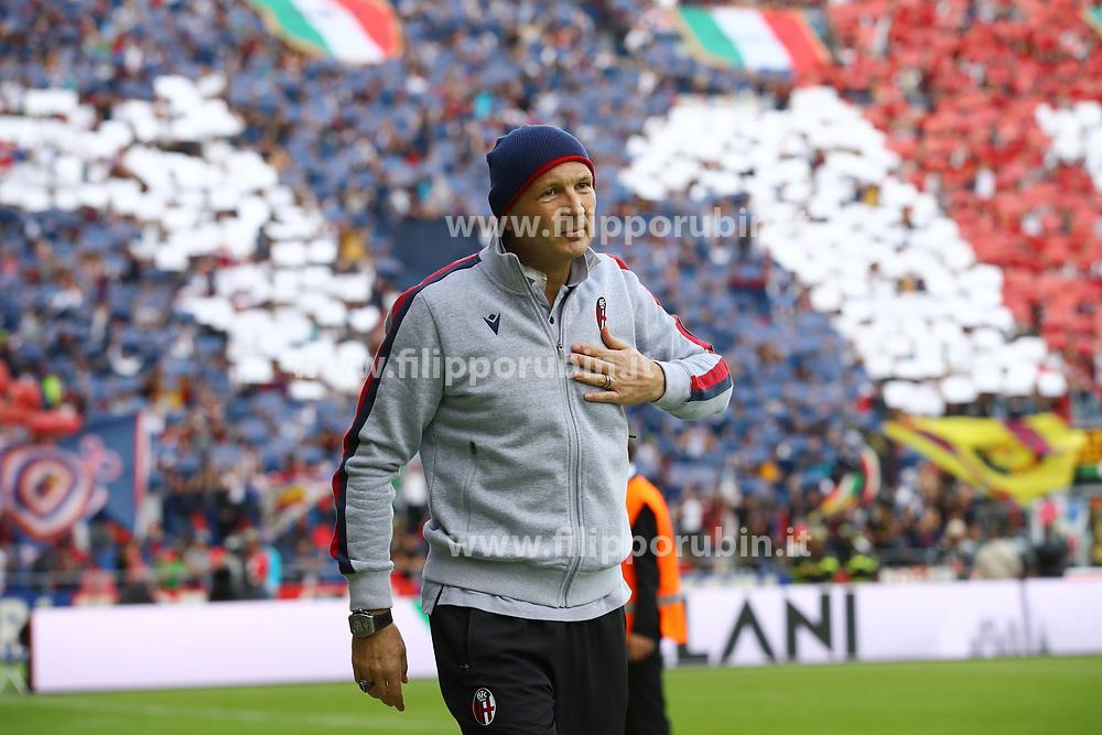 """Foto Filippo Rubin<br /> 06/10/2019 Bologna (Italia)<br /> Sport Calcio<br /> Bologna - Lazio - Campionato di calcio Serie A 2019/2020 - Stadio """"Renato Dall'Ara""""<br /> Nella foto: SINISA MIHAJLOVIC (ALLENATORE BOLOGNA)<br /> <br /> Photo by Filippo Rubin<br /> October 06, 2019 Ferrara (Italy)<br /> Sport Soccer<br /> Bologna vs Lazio - Italian Football Championship League A 2019/2020 - """"Dall'Ara"""" Stadium <br /> In the pic: SINISA MIHAJLOVIC (BOLOGNA FC COACH)"""