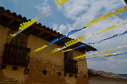 DECORATED HOUSES IN HONOR TO THE LORD OF GUALAMITA. SEN?OR DE GUALAMITA.