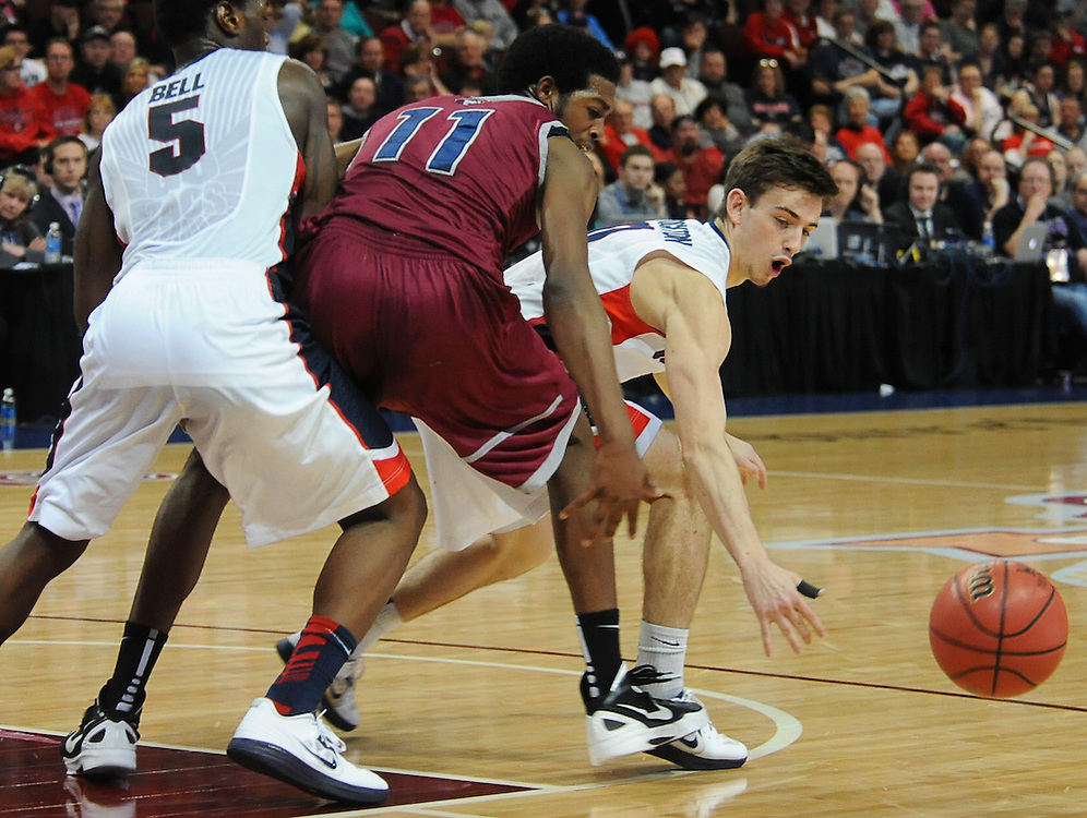 Gonzaga takes on LMU during the WCC Tournament at The Orleans Arena in Las Vegas. Photo by Rajah Bose