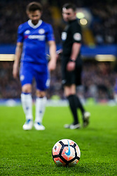 Cesc Fabregas of Chelsea wals over to pick up the football - Rogan Thomson/JMP - 13/03/2017 - FOOTBALL - Stamford Bridge - London, England - Chelsea v Manchester United - FA Cup Quarter Final..