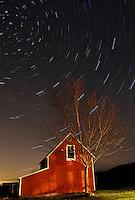Vermont barn at night, 24 minute exposure