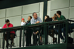 22 September 2015:  Sports Information Director Stew Salowitz and crew during an NCAA womens division 3 Volleyball match between the Augustana Vikings and the Illinois Wesleyan Titans in Shirk Center, Bloomington IL