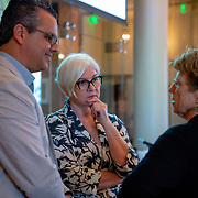MAY 30, 2018--MIAMI, FLORIDA<br /> From left: Roberto Rovira (Florida International University), Victoria Rogers (Knight Foundation) and Dr. Ann Markusen (University of Minnesota) prior to their  lecture; Creative Placemaking: What&rsquo;s in It for Miami? as part of the By the People: Designing a Better America lectures at Miami Dade College's Freedom Tower .<br /> (PHOTO BY ANGELVALENTIN/FREELANCE)