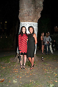 "YI ZHOU; ; RACHEL BARRETT;, Video artist Yi Zhou  first solo show ""I am your Simulacrum"".Exhibition opening at 20 Hoxton Square Projects. Hoxton Sq. London. 1 September 2010.  -DO NOT ARCHIVE-© Copyright Photograph by Dafydd Jones. 248 Clapham Rd. London SW9 0PZ. Tel 0207 820 0771. www.dafjones.com."