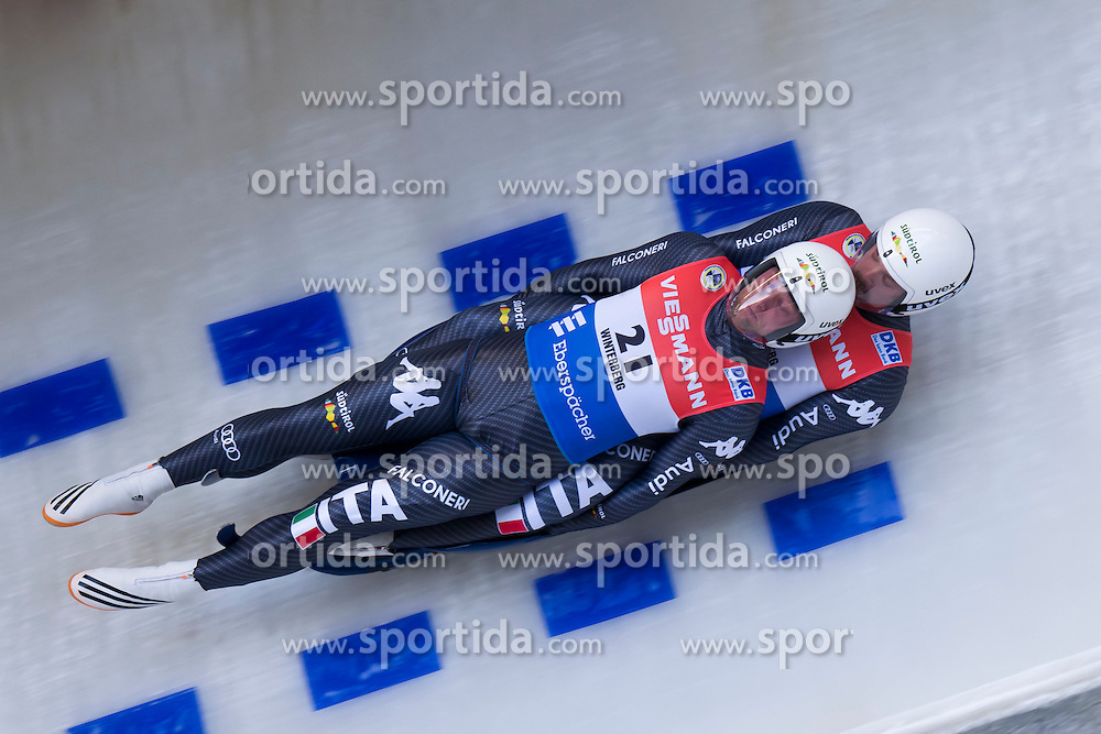 26.11.2016, Winterberg, GER, Viessmann Rennrodel Weltcup, Winterberg, Herren, Doppelsitzer, im Bild Christian Oberstolz und Patrick Gruber ITA GER // during men's double seater of Viessmann Luge World Cup. Winterberg, Germany on 2016/11/26. EXPA Pictures &copy; 2016, PhotoCredit: EXPA/ Rolf Kosecki<br /> <br /> *****ATTENTION - OUT of GER*****
