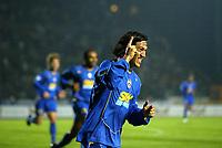 Siena 23-10-04<br />Campionato di calcio Serie A 2004-05<br />Siena Juventus<br />nella  foto Camoranesi esultta dopo il suo gol<br />Foto Snapshot / Graffiti