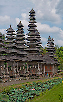 Temple towers at Pura Taman Ayun near Mengwi in Bali, Indonesia