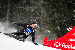 Sang-Ho Lee (KOR) competes during Qualification Run of Men's Parallel Giant Slalom at FIS Snowboard World Cup Rogla 2016, on January 23, 2016 in Course Jasa, Rogla, Slovenia. Photo by Ziga Zupan / Sportida
