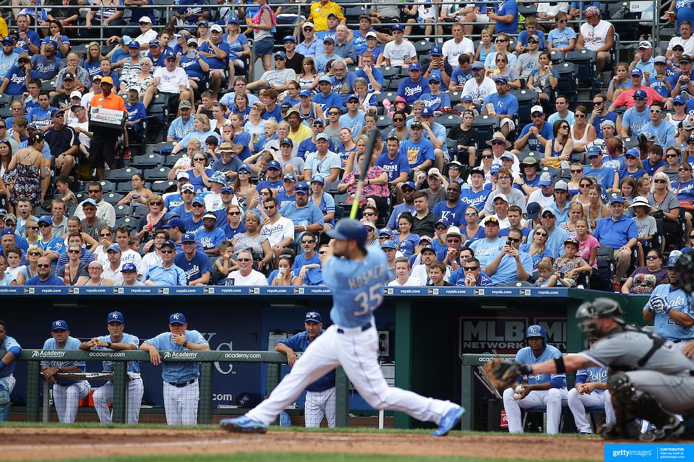 Kansas City Royals Vs Chicago White Sox,  Kauffman Stadium, Kansas, Missouri, USA. 9th August 2015. Photo Tim Clayton