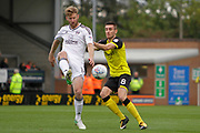 Fulham defender Tim Ream (13) during the EFL Sky Bet Championship match between Burton Albion and Fulham at the Pirelli Stadium, Burton upon Trent, England on 16 September 2017. Photo by Richard Holmes.