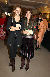 Left to right, MISS ROSE HANBURY and her mother MRS TIM HANBURY at auctioneers Sotheby's Summer party held at their showrooms in 34-35 New Bond Street, London W1 on 6th June 2005.<br />
