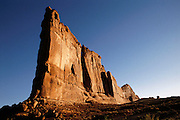 USA_UT_1_xs.Sandstone spire, Arches National Monument, Utah. USA.