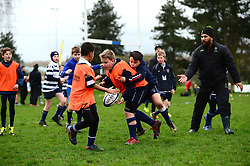 Cooper Vuna and other Worcester Warriors players and community coaches deliver coaching sessions at Stourbridge RFC  - Mandatory by-line: Dougie Allward/JMP - 19/03/2017 - Rugby - Stourbridge RFC - Stourbridge, England - Worcester Warriors Community Rugby