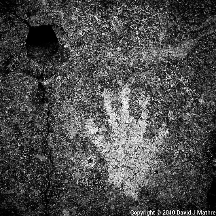 The Hand. Red Canyon Petroglyphs. Image taken with a Nikon D3s and 24 mm f/1.4G lens (ISO 200, 24 mm, f/5.6, 1/80 sec). Raw image processed using Capture One Pro 6, Nik Silver Efex Pro 2, and Photoshop CS5