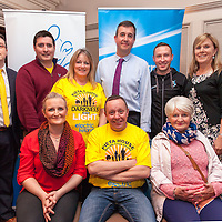 Back Row - John Cooke, Michéal Brennan, Cllr Mary Howard,  Tom   McEvoy (Pieta House). Keith Whyte, and Catherine Ryan,<br /> Front Row - Dawn Halpin, Peter Brigdale and Geraldine Halpin,<br /> The Ennis Committee of the Darkness into Light walk in aid of Suicide by Pieta House