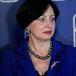 April 16, 2012; New Orleans, LA, USA; Gayle Benson the wife of New Orleans Hornets and Saints owner Tom Benson at press conference announcing ownership to the Benson's and the awarding of the 2014 All Star game to the city of New Orleans at the New Orleans Arena.   Mandatory Credit: Derick E. Hingle-US PRESSWIRE