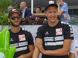 29.07.2014, Klagenfurt, Strandbad, AUT, A1 Beachvolleyball Grand Slam 2014, im Bild Lorenz Petutschnig 1 AUT, Tobias Winter 2 AUT // during the A1 Beachvolleyball Grand Slam at the Strandbad Klagenfurt, Austria on 2014/07/29. EXPA Pictures © 2014, EXPA Pictures © 2014, PhotoCredit: EXPA/ Mag. Gert Steinthaler