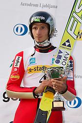 Robert Kranjec during Ski Jumping Summer Continental Cup in Kranj, on July 2, 2011, in Kranj, Slovenia. (Photo by Vid Ponikvar / Sportida)