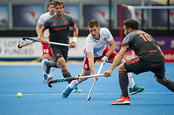 England's Henry Weir. England v The Netherlands - Semi Final - Hockey World League Semi Final, Lee Valley Hockey and Tennis Centre, London, United Kingdom on 24 June 2017. Photo: Simon Parker