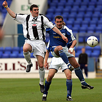St Johnstone v St Mirren..07.05.05<br />Stewart Kean and David Hannah<br /><br />Picture by Graeme Hart.<br />Copyright Perthshire Picture Agency<br />Tel: 01738 623350  Mobile: 07990 594431