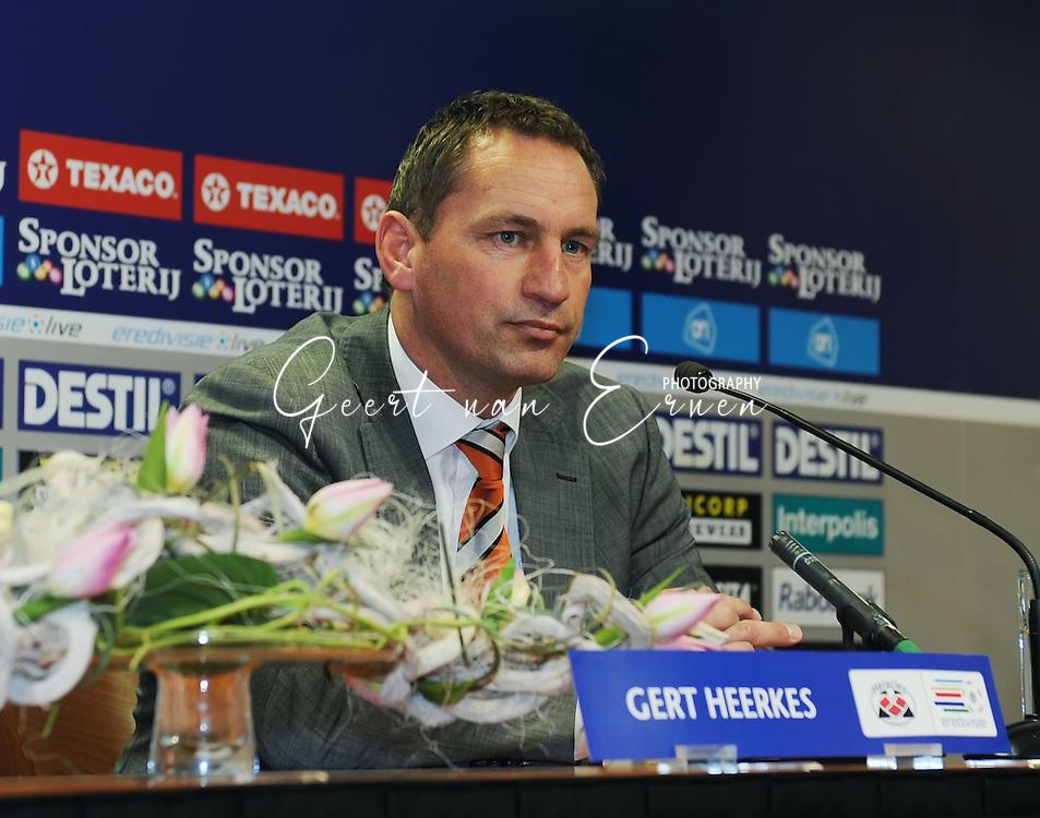 28-02-2009 Voetbal:Willem II:Heracles Almelo:Tilburg<br /> Gert Heerkes tijdens de persconferentie<br /> Foto: Geert van Erven