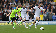 Leeds United defender Scott Wootton (4) breaks forward during the Sky Bet Championship match between Leeds United and Brighton and Hove Albion at Elland Road, Leeds, England on 17 October 2015.
