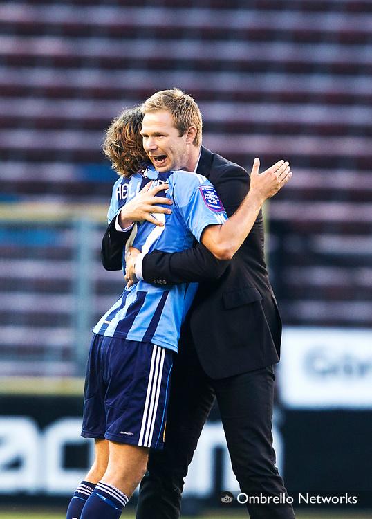 STOCKHOLM 2011-06-20<br /> ALLSVENSKAN FOTBOLL DJURG&Aring;RDEN VS SYRIANSKA FC.<br /> I bild: Magnus Pehrsson jublar efter matchen.