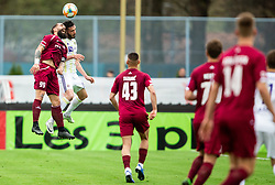 Luka Majcen of Triglav vs Aleksander Rajčević of Maribor during Football match between NK Triglav and NK Maribor in 25th Round of Prva liga Telekom Slovenije 2018/19, on April 6, 2019, in Sports centre Kranj, Slovenia. Photo by Vid Ponikvar / Sportida