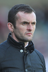 NATHAN JONES MANAGER LUTON TOWN, Northampton Town v Luton Town, Sky Bet League 2,  Six Fields Stadium Northampton Crowned Division Two Champions Saturday 30th April 2016. (Score 2-1)Photo: Mike Capps