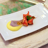 Lobster and potato puree at the Relais & Chateaux La Cote Saint-Jacques